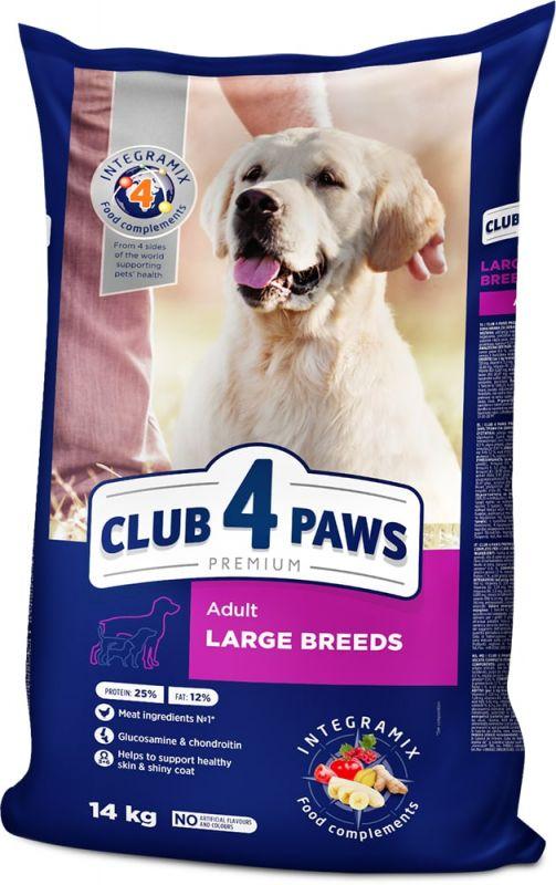 Сухой корм для взрослых собак Club 4 paws для крупных пород