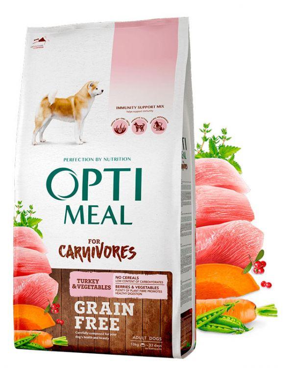 Сухой беззерновой полнорационный корм Optimeal для взрослых собак всех пород